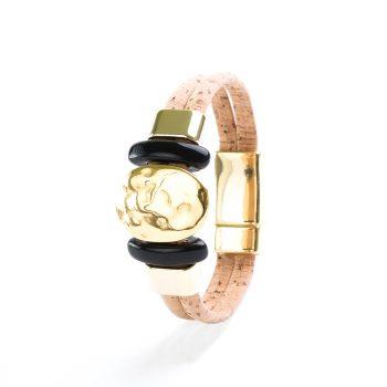 Bratara cu ornament negru si auriu