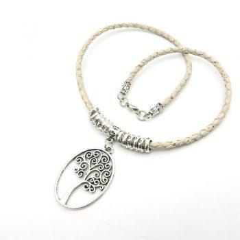 Colier Copacul vietii (alb)