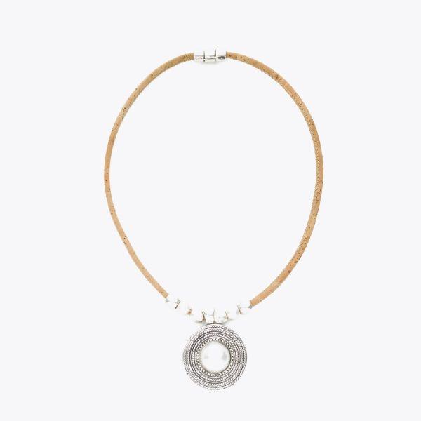 Colier cu medalion cu perla