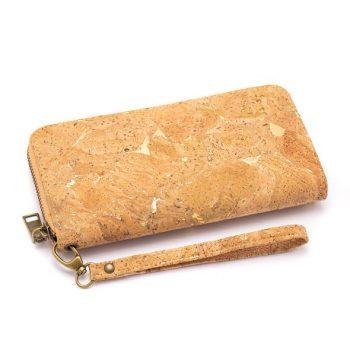 Portofel de dama cu fermoar si insertii aurii