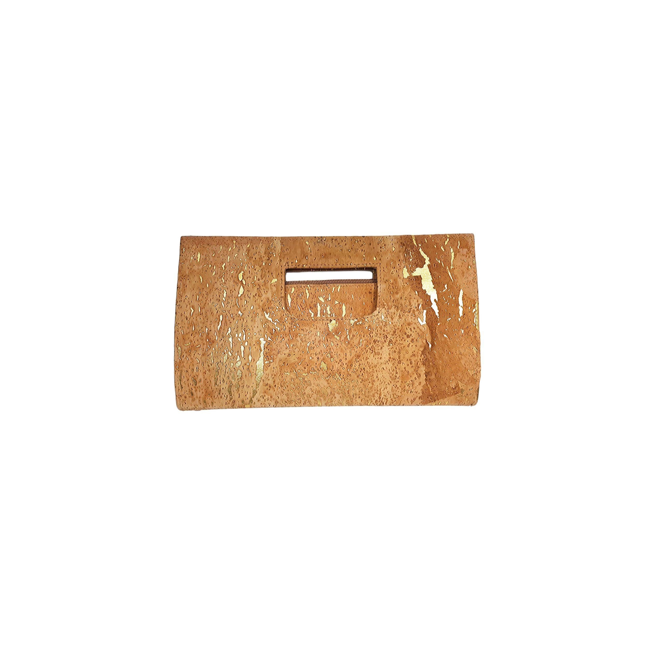 Geanta-plic natural-auriu