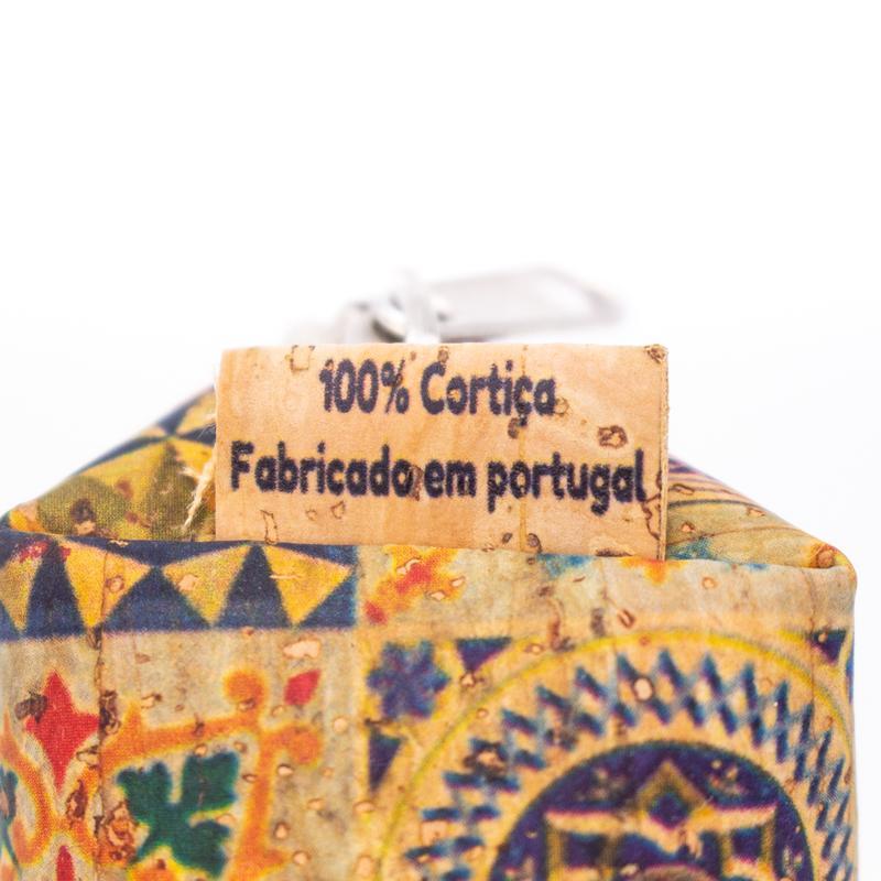 Portmoneu din pluta cu imprimeu multicolor