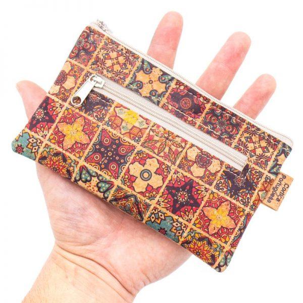 Portmoneu din pluta mozaic multicolor2