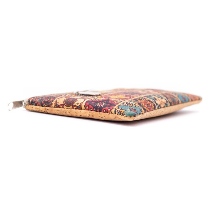 Portmoneu din pluta mozaic multicolor