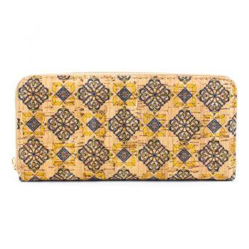 Portofel de dama cu fermoar - azulejos galben