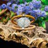Bratara duo cu ornament oval albastru galben
