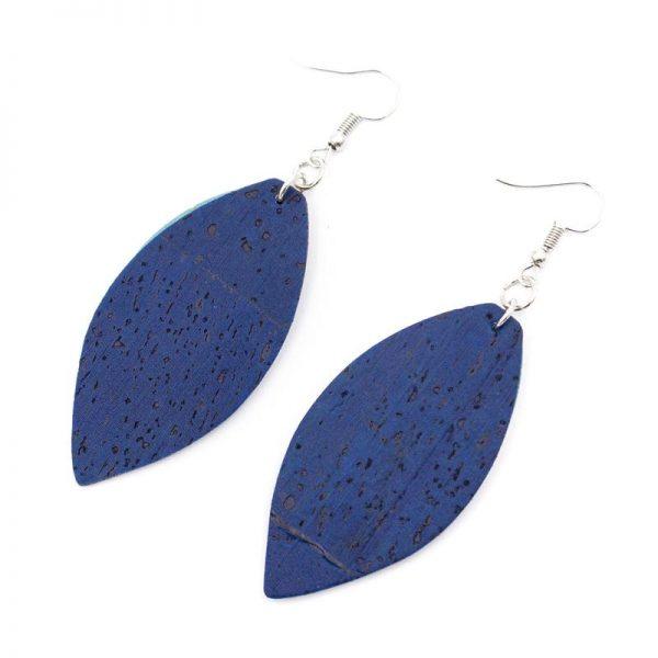 Cercei din pluta frunze albastre2