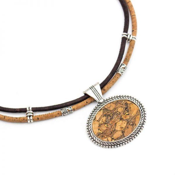 Colier vintage cu medalion oval2