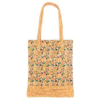 Geanta-shopper cu flori si ghinde