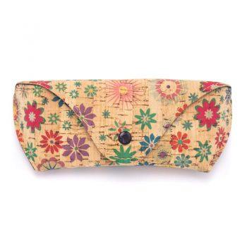 Etui ochelari cu imprimeu floral
