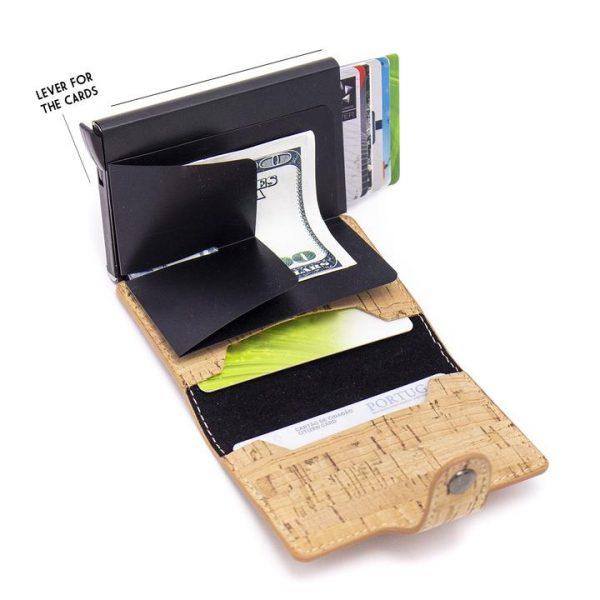 Portofel cu Protectie RFID pentru Carduri1