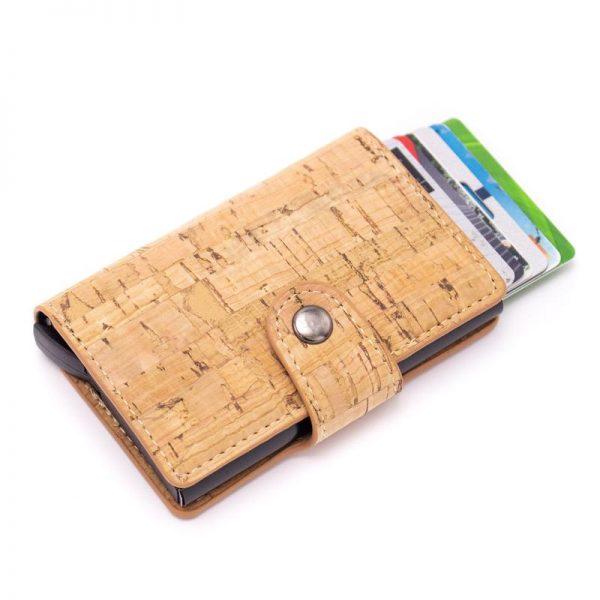 Portofel cu Protectie RFID pentru Carduri