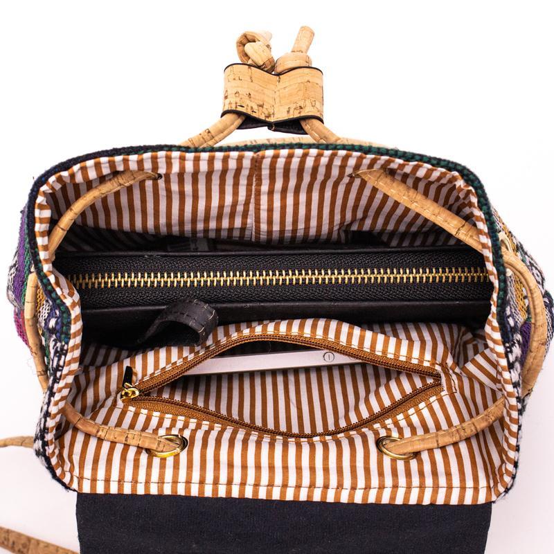Rucsac din material textil si pluta