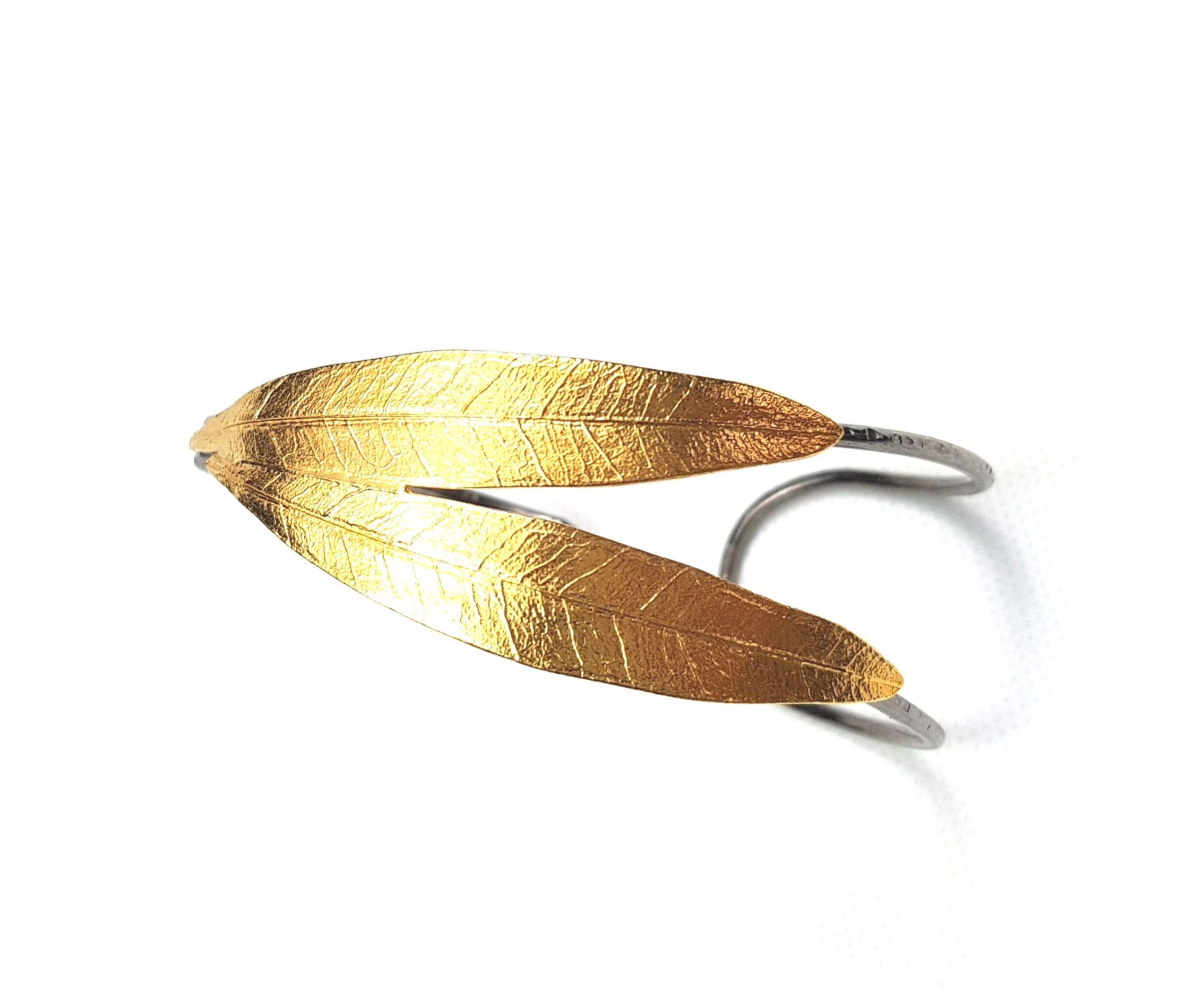 Bratara din argint masiv Olive Leaves