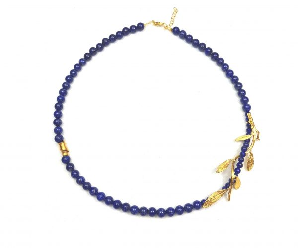 Colier Golden Branch on Lapis Pearls