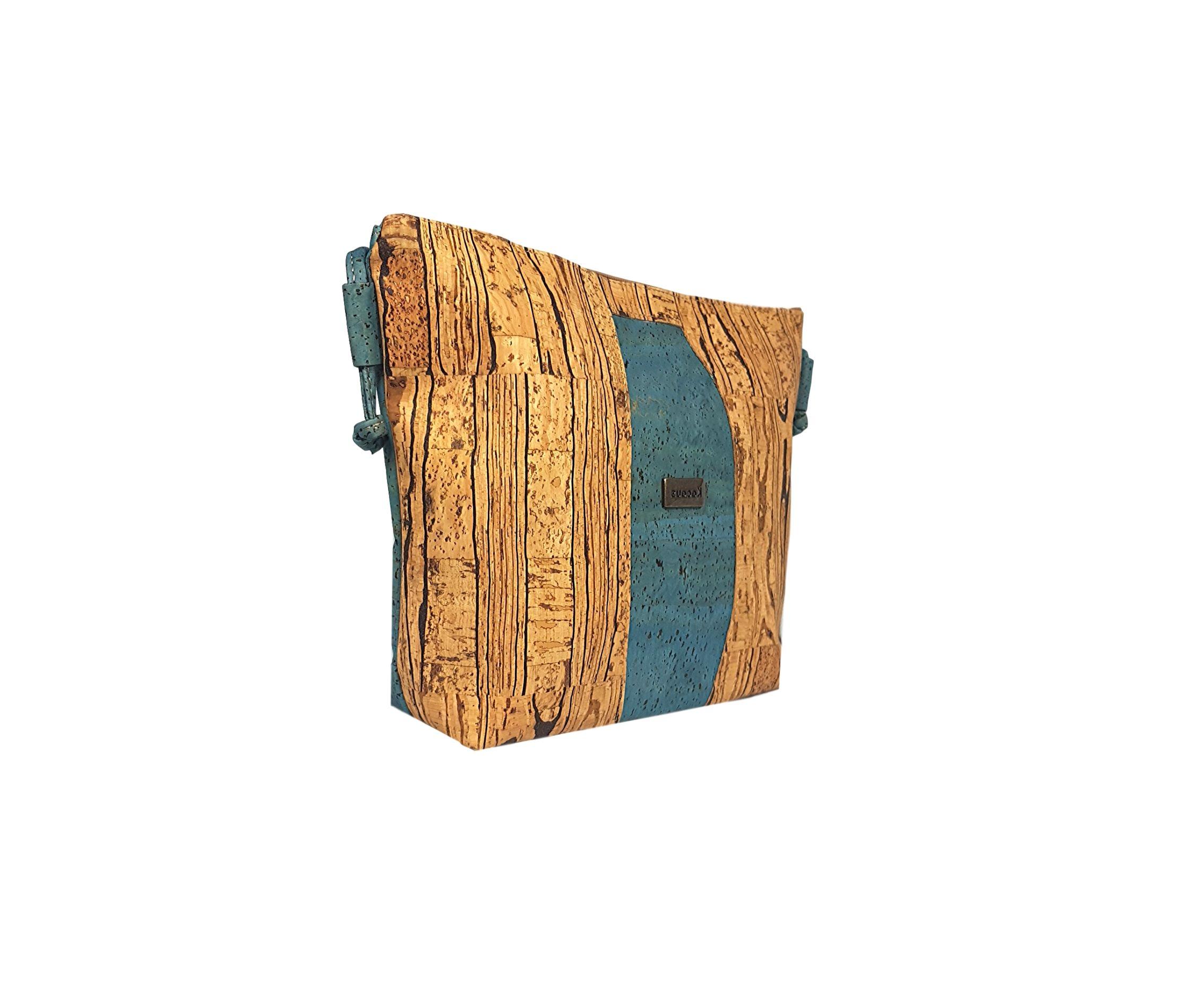 Geanta crossbody albastru-wood
