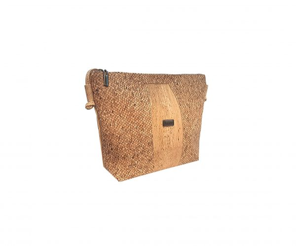 Geanta crossbody natural-texturat