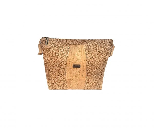 Geanta crossbody natural-texturat