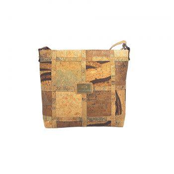 Geanta crossbody patchwork MixMapacamel