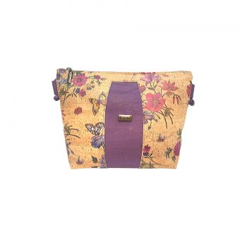 Geanta crossbody violet-imprimeu floral