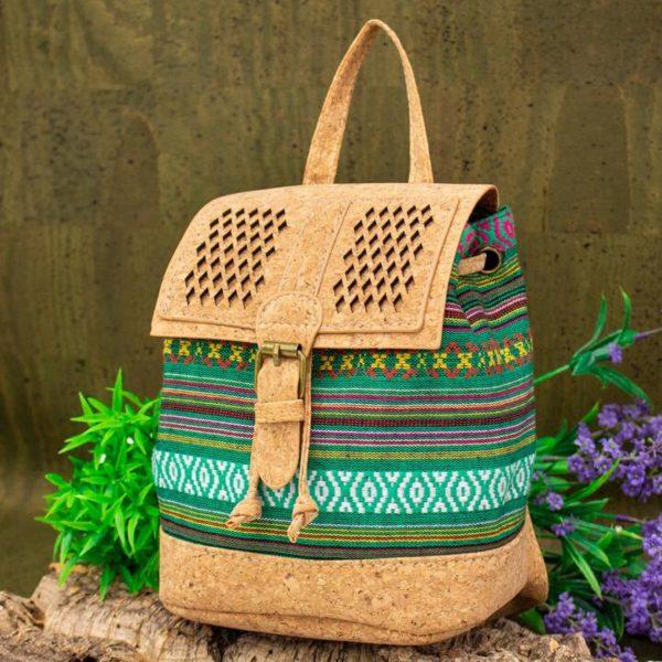 Rucsacel din pluta si material textil – verde4