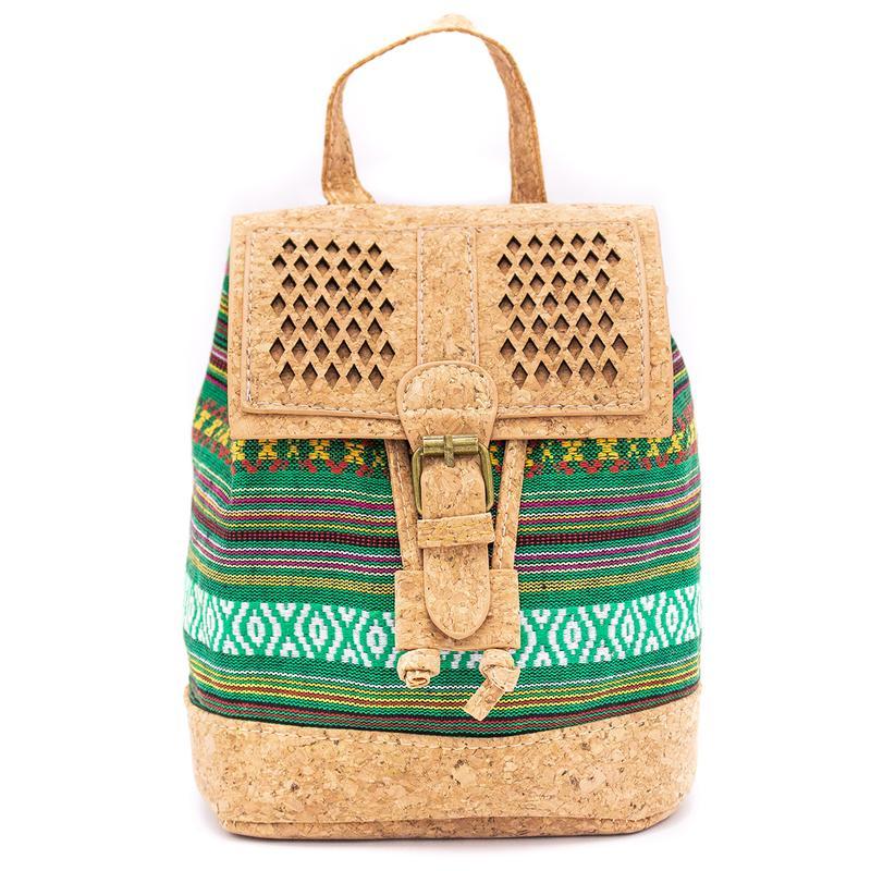 Rucsacel din pluta si material textil – verde