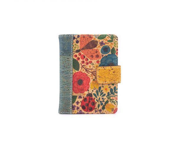 Portofel RFID cu imprimeu floral
