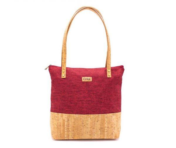 Geanta Tote cu material textil - rosu