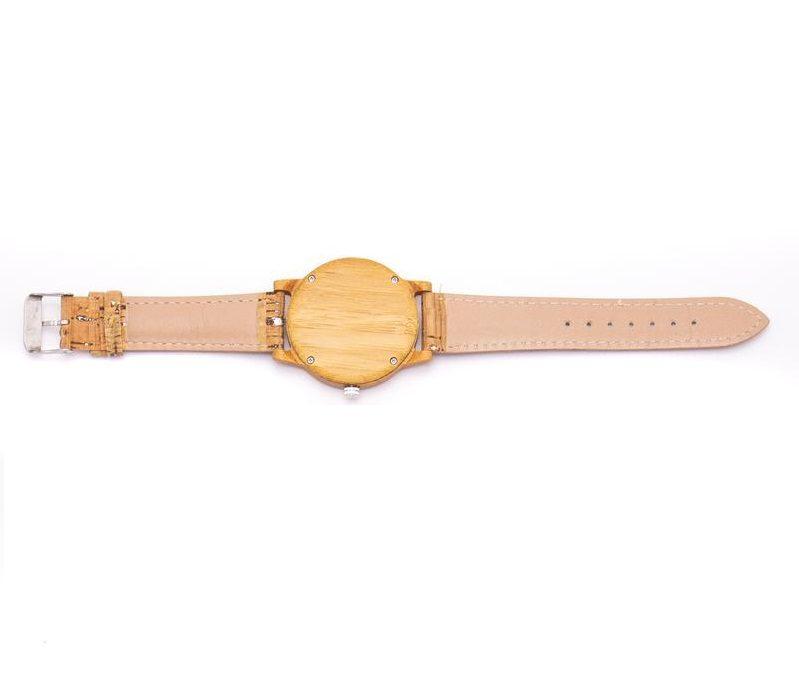 Ceas unisex din bambus si pluta