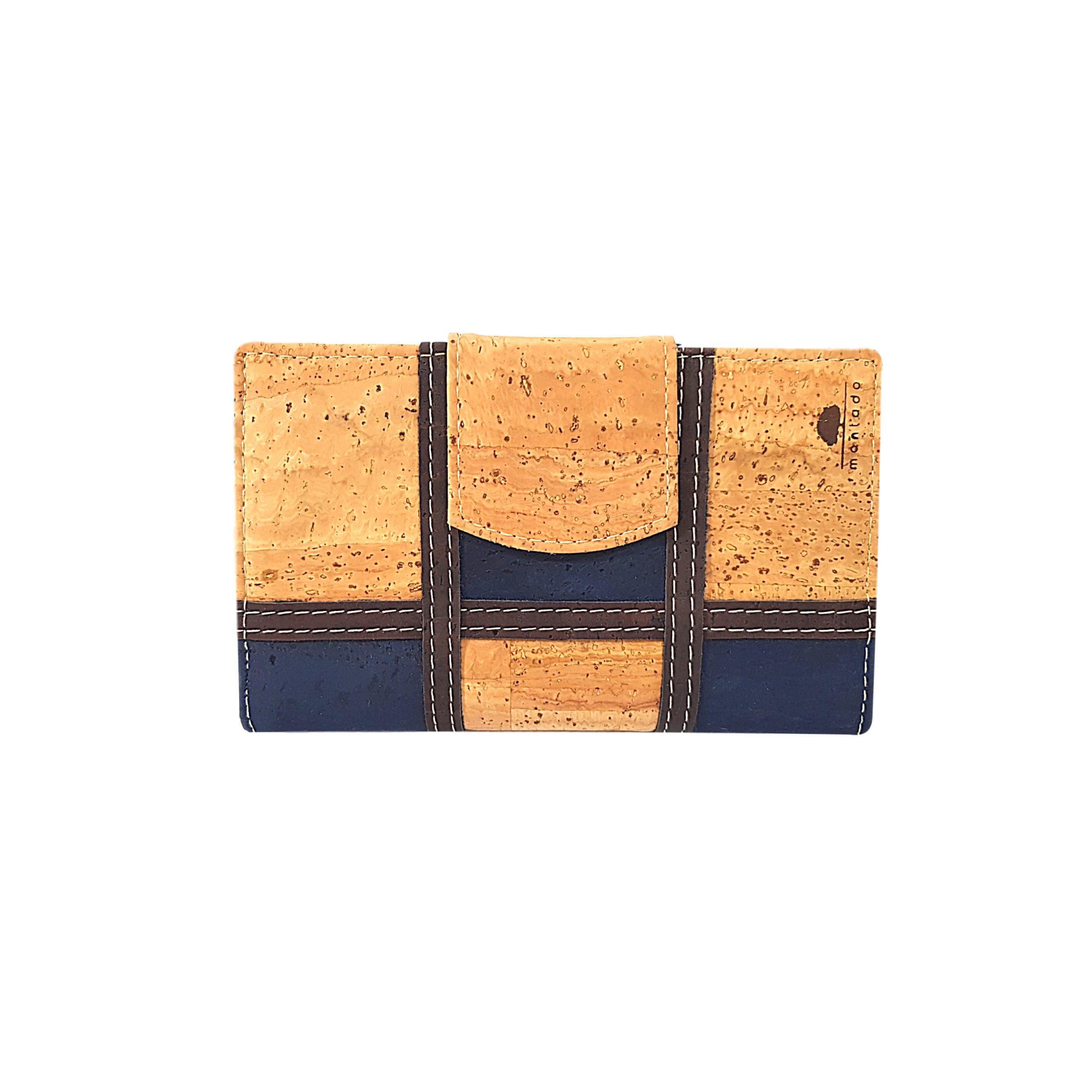 Portofel dublu mare squares bleumarin