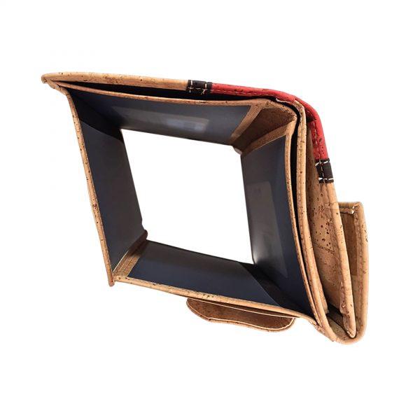 Portofel dublu mare squares - rosu4