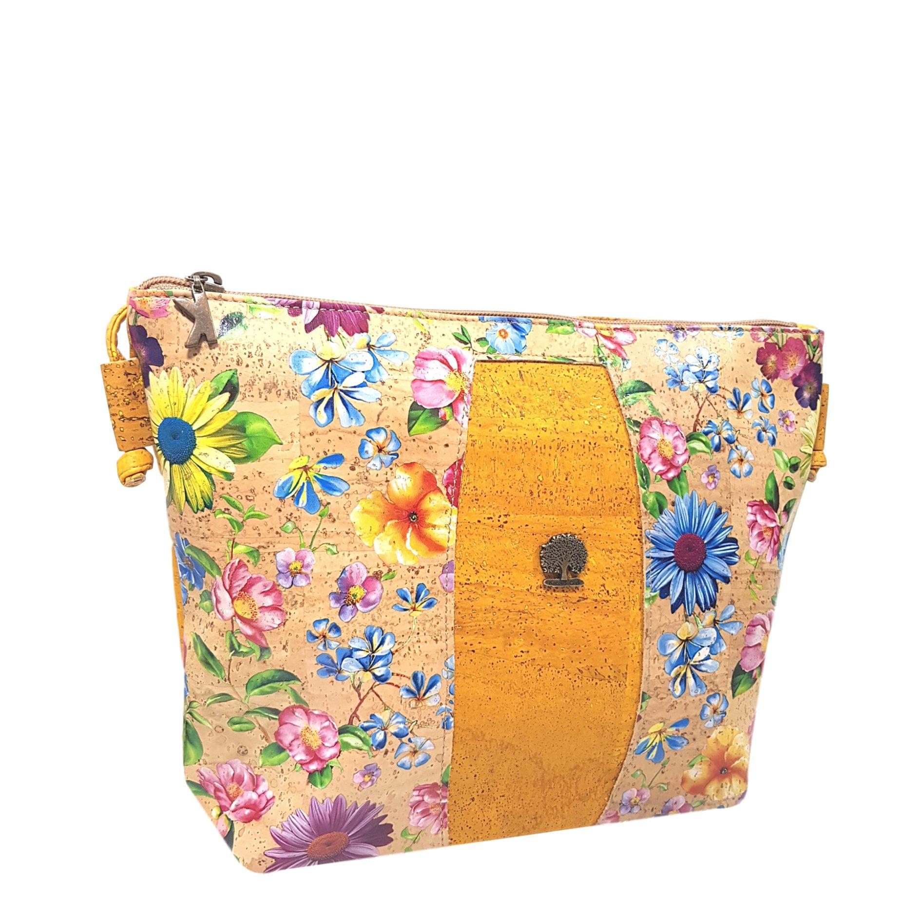 Geanta crossbody galben – flori de camp