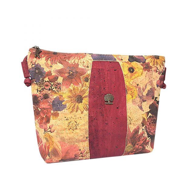 Geanta crossbody grena-floral