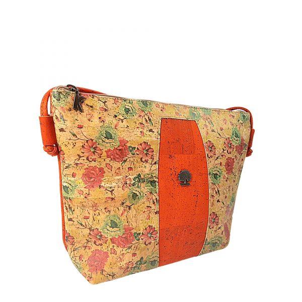 Geanta crossbody oranj-floral 0