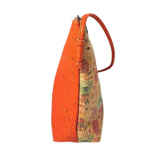 Geanta crossbody oranj-floral 02