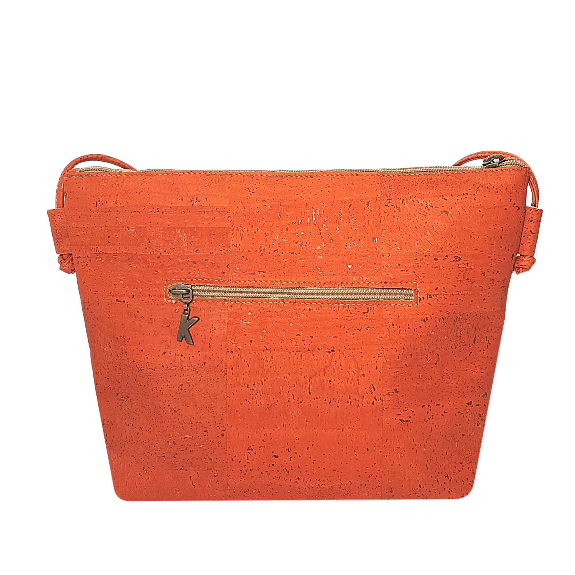 Geanta crossbody oranj-floral