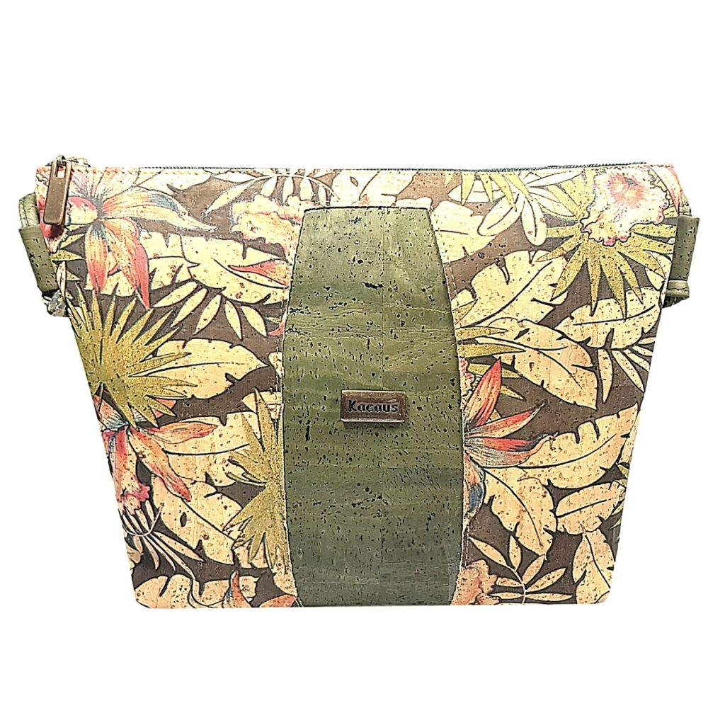 Geanta crossbody verde-tropical