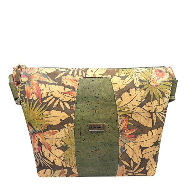 Geanta crossbody verde-tropical
