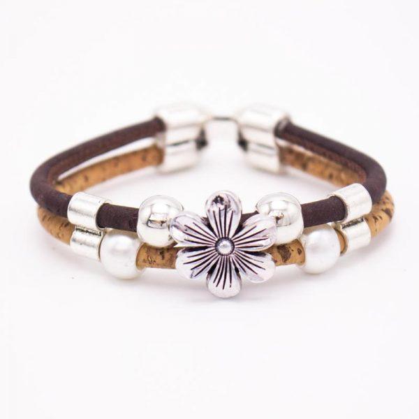 Set 3 piese cu flori si perle3