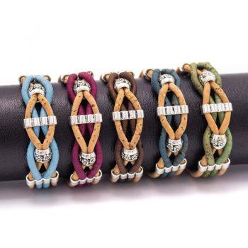 Bratara colorata cu bilute metalice