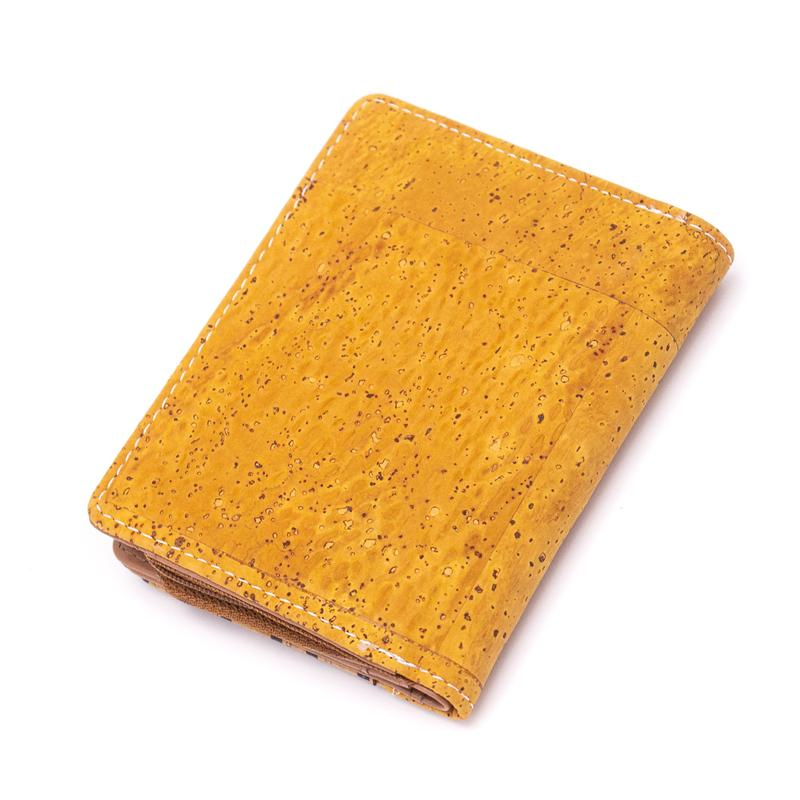 Portofel RFID cu clapa – galben-fagure