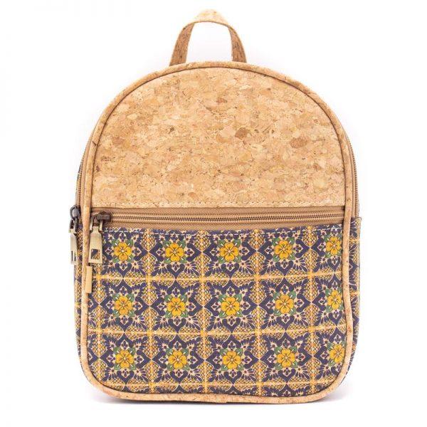 Rucsac Azulejo cu fermoar - galben