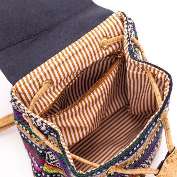 Rucsacel din material textil si capac de pluta4