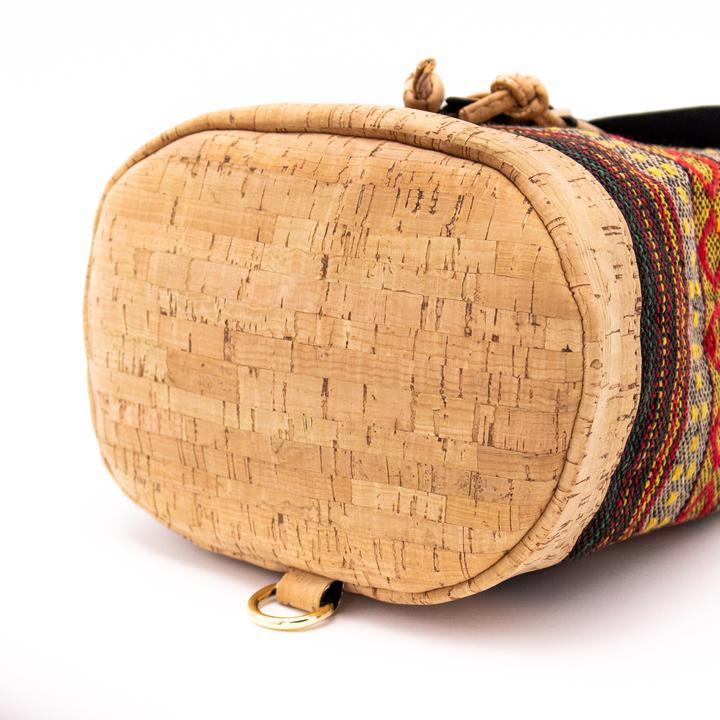 Rucsacel din material textil si pluta