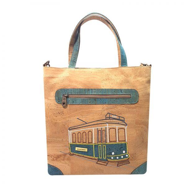 Geanta Tote Blue Tram