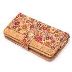 Portofel mare cu capsa magnetica - floral