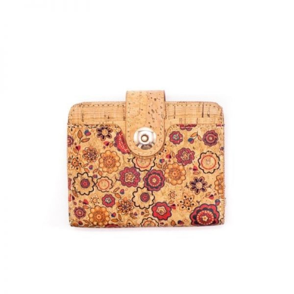 Portofel mic cu capsa magnetica - floral