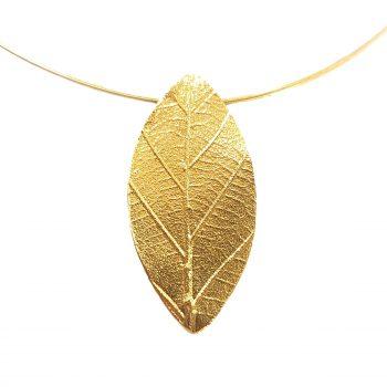 Colier Golden Leaf
