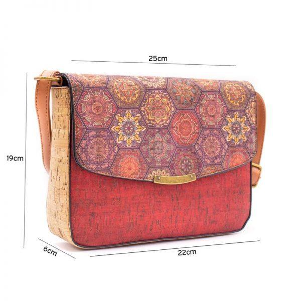 Geanta crossbody cu capac rosu-azulejos1