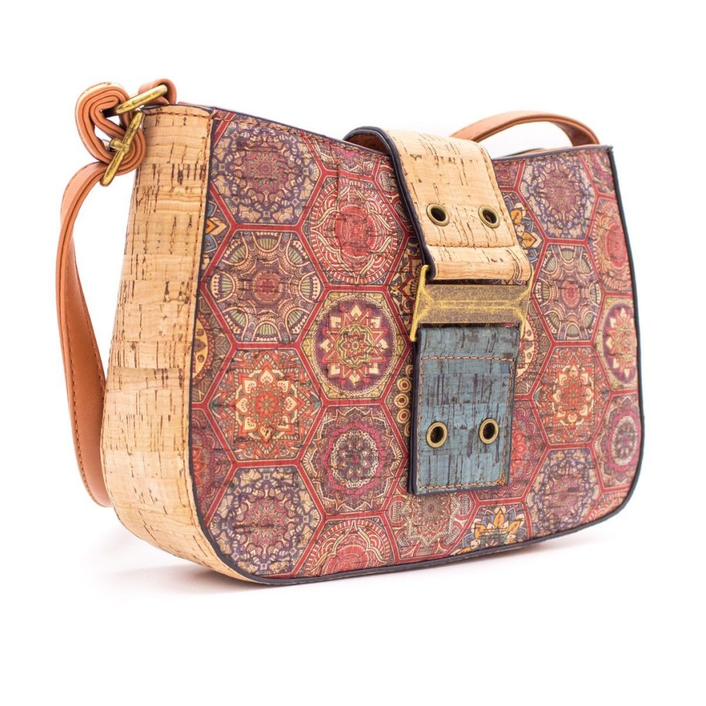 Geanta crossbody cu clapa natural-multicolor
